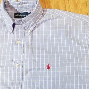 Polo by Ralph Lauren Shirts - Polo Ralph Lauren Blue Plaid Short Sleeved Shirt